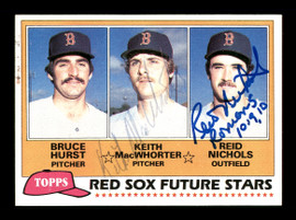 Keith MacWhorter & Reid Nichols Autographed 1981 Topps Rookie Card #689 Boston Red Sox SKU #166426