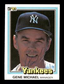 Gene Michael Autographed 1981 Donruss Card #500 New York Yankees SKU #166453