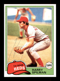 Harry Spilman Autographed 1981 Topps Card #94 Cincinnati Reds SKU #166581