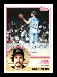 Gene Nelson Autographed 1983 Topps Card #106 Seattle Mariners SKU #166714