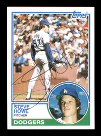 Steve Howe Autographed 1983 Topps Card #170 Los Angeles Dodgers SKU #166719
