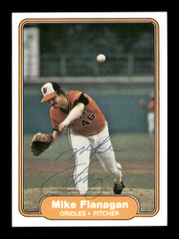 Mike Flanagan Autographed 1982 Fleer Card #165 Baltimore Orioles SKU #166757
