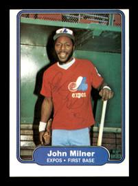 John Milner Autographed 1982 Fleer Card #197 Montreal Expos SKU #166761