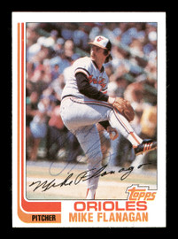 Mike Flanagan Autographed 1982 Topps Card #520 Baltimore Orioles SKU #166767