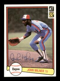 John Milner Autographed 1982 Donruss Card #266 Montreal Expos SKU #166861
