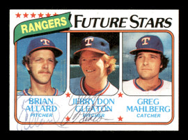 Brian Allard & Jerry Don Gleaton Autographed 1980 Topps Rookie Card #673 Texas Rangers SKU #166878
