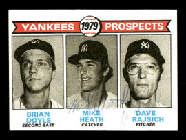Mike Heath & Dave Rajsich Autographed 1979 Topps Rookie Card #710 New York Yankees SKU #166901
