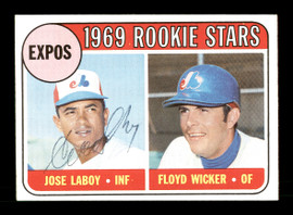 """Jose """"Coco"""" Laboy Autographed 1969 Topps Rookie Card #524 Montreal Expos SKU #167022"""