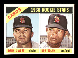 "Bob ""Bobby"" Tolan Autographed 1966 Topps Rookie Card #179 St. Louis Cardinals SKU #167061"