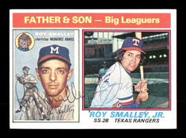 Roy Smalley Jr. & Roy Smalley Sr. Autographed 1976 Topps Card #70 SKU #167129