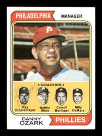 Ray Ripplemeyer Autographed 1974 Topps Card #119 Philadelphia Phillies Coach SKU #167174