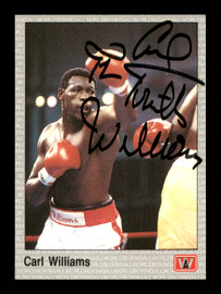 """Carl """"The Truth"""" Williams Autographed 1991 All World Card #42 SKU #167225"""