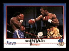 Michael Moorer Autographed 1991 Kayo Card #207 SKU #167227