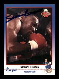 Simon Brown Autographed 1991 Kayo Card #42 SKU #167230