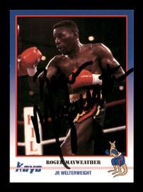 Roger Mayweather Autographed 1991 Kayo Card #144 SKU #167234