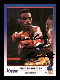 Fred Freddie Pendleton Autographed 1991 Kayo Card #152 SKU #167238