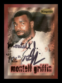 """Montell """"Ice"""" Griffin Autographed 1996 Ringside Rookie Card #21 SKU #167243"""