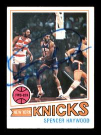 Spencer Haywood Autographed 1977-78 Topps Card #88 New York Knicks SKU #167300