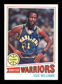 Gus Williams Autographed 1977-78 Topps Card #89 Golden State Warriors SKU #167301