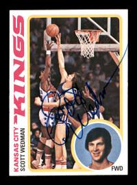 Scott Wedman Autographed 1978-79 Topps Card #79 Los Angeles Lakers SKU #167359