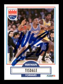 Wayman Tisdale Autographed 1990-91 Fleer Card #167 Sacramento Kings SKU #167461