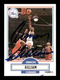 Armon Gilliam Autographed 1990-91 Fleer Update Card #U-70 Philadelphia 76ers SKU #167510