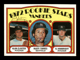Rusty Torres & Alan Closter Autographed 1972 Topps Rookie Card #124 New York Yankees SKU #167529