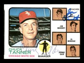 Chuck Tanner & Joe Lonnett Autographed 1973 Topps Card #356 Chicago White Sox SKU #167572