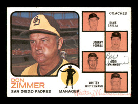 Whitey Wietelmann & Bob Skinner Autographed 1973 Topps Card #12 San Diego Padres SKU #167593