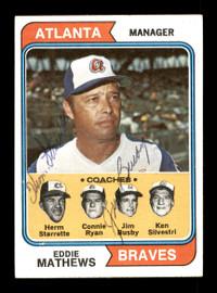 Herm Starrette & Jim Busby Autographed 1974 Topps Card #634 Atlanta Braves SKU #167627