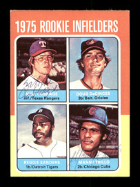 Manny Trillo & Mike Cubbage Autographed 1975 Topps Mini Rookie Card #617 SKU #167711