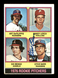 Sid Monge & Steve Barr Autographed 1976 Topps Rookie Card #595 SKU #167714