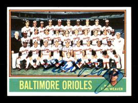 Mike Flanagan & Bob Bailor Autographed 1976 Topps Card #73 Baltimore Orioles SKU #167738