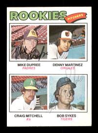 Mike Dupree & Bob Sykes Autographed 1977 Topps Rookie Card #491 SKU #167773