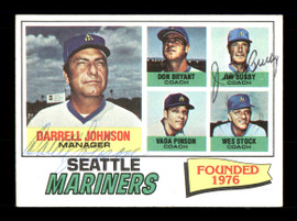 Darrell Johnson & Jim Busby Autographed 1977 Topps Card #597 Seattle Mariners SKU #167790