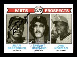 Juan Berenguer & Dwight Bernard Autographed 1979 Topps Rookie Card #721 New York Mets SKU #167843