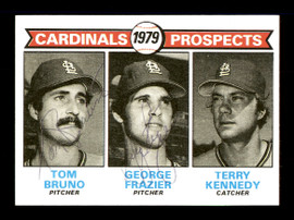 Tom Bruno & George Frazier Autographed 1979 Topps Rookie Card #724 St. Louis Cardinals SKU #167853