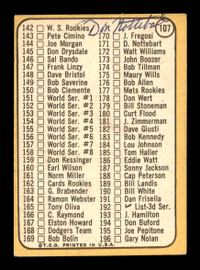 Don Nottebart Autographed 1968 Topps Checklist Card #107 Cincinnati Reds SKU #167911