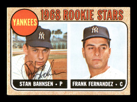 Stan Bahnsen Autographed 1968 Topps Rookie Card #214 New York Yankees SKU #167950