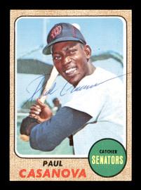 Paul Casanova Autographed 1968 Topps Card #560 Washington Senators SKU #168030