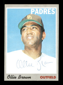 Ollie Brown Autographed 1970 Topps Card #130 San Diego Padres SKU #168116