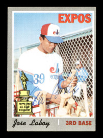 """Jose """"CoCo"""" Laboy Autographed 1970 Topps Card #238 Montreal Expos SKU #168155"""