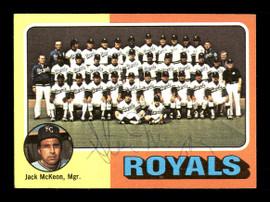 Steve Mingori Autographed 1975 Topps Team Card #72 Kansas City Royals SKU #168355