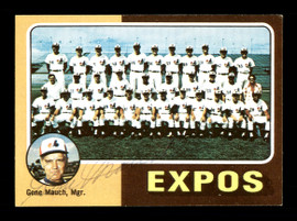 Gene Mauch Autographed 1975 Topps Card #101 Montreal Expos SKU #168365