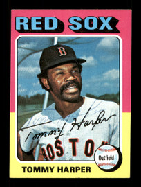 Tommy Harper Autographed 1975 Topps Card #537 Boston Red Sox SKU #168495