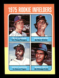Mike Cubbage Autographed 1975 Topps Rookie Card #617 Texas Rangers SKU #168527