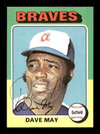 Dave May Autographed 1975 Topps Card #650 Atlanta Braves SKU #168548