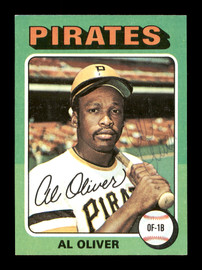 Al Oliver Autographed 1975 Topps Mini Card #555 Pittsburgh Pirates SKU #168669
