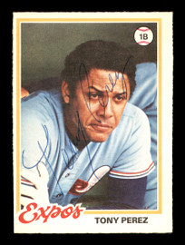 Tony Perez Autographed 1978 O-Pee-Chee Card #90 Montreal Expos SKU #169086