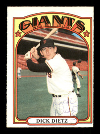 Dick Dietz Autographed 1972 O-Pee-Chee Card #295 San Francisco Giants SKU #169153